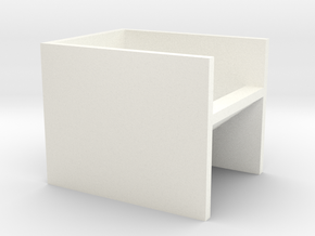 """N Scale Subway Stairs H12.5 (1/2"""") in White Processed Versatile Plastic"""