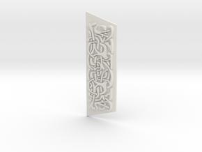 Mjolnir Knotwork  in White Natural Versatile Plastic