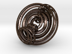 Triple Torus in strips in Polished Bronze Steel