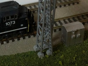 N Scale 4x Relay Shed 2 in Smooth Fine Detail Plastic