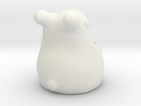 Ralph the Bunny Succulent Pot in White Natural Versatile Plastic