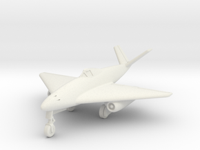 (1:144) Messerschmitt Me 262 V-tail Delta in White Natural Versatile Plastic