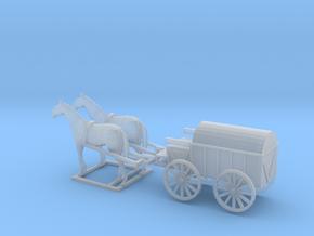 1/120 horse drawn Cart, Pferdefuhrwerk  in Smooth Fine Detail Plastic