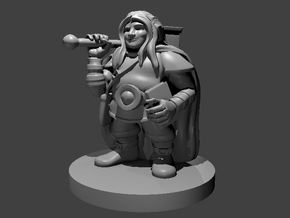 Dwarven Male Cleric No Beard in Smooth Fine Detail Plastic