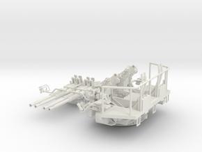 1/32 40mm Bofors Quad mount in White Natural Versatile Plastic