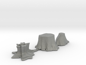 S Scale stumps 2 in Gray PA12