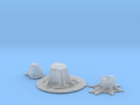 HO Scale stumps 2 in Smooth Fine Detail Plastic