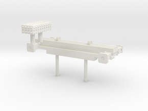 1/87 Bumper Stabelizer and DP box cover in White Natural Versatile Plastic