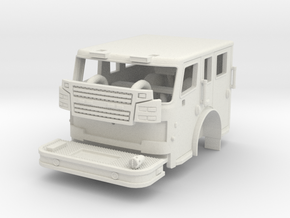 1/87 Rosenbauer Flat Roof Short Length Cab in White Natural Versatile Plastic