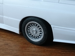 "Stock 15"" Wheel for M3 E30 in Smoothest Fine Detail Plastic"