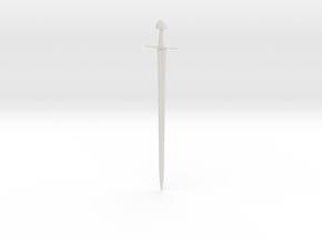 1/3 Scale ULFBERHT Sword  in White Natural Versatile Plastic