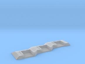 1/1200 3 Gun Emplacement Left in Smooth Fine Detail Plastic
