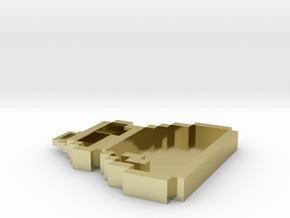Pixel Art  - Bag in 18k Gold Plated Brass
