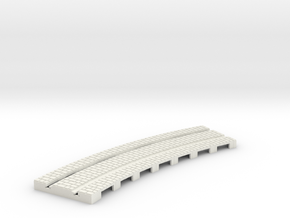 p-14stw-curve-tram-long-204r-plus-w-1a in White Natural Versatile Plastic