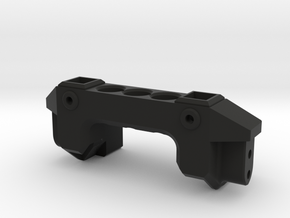 TRX4 Front servo mount v1 in Black Natural Versatile Plastic