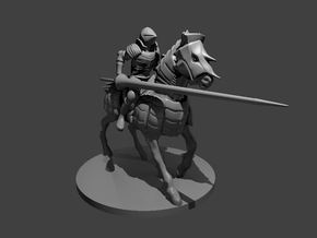 Human Cavalier Jousting in Smooth Fine Detail Plastic