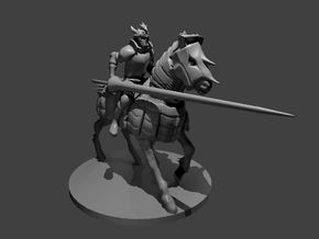 Human Cavalier in Smooth Fine Detail Plastic