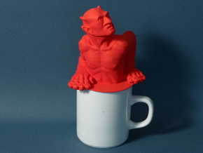 The Standard Coffee Mug Devil  in Red Processed Versatile Plastic