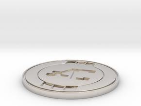 Apex Coin/Season 1 - Challenge Coin  in Rhodium Plated Brass