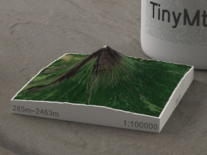 Mayon Volcano, Philippines, 1:100000 in Natural Full Color Sandstone