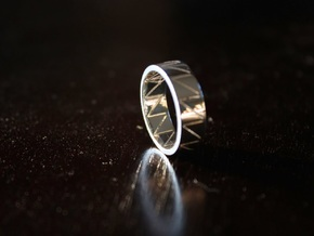 Visionary Crazy V Ring By Kris Kitchen  Ring Size  in Polished Silver