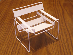 "Wassily Chair 3.7"" tall in White Strong & Flexible"