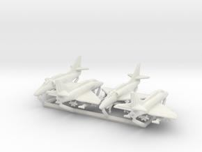 A-4F w/Gear x4 in White Natural Versatile Plastic: 6mm
