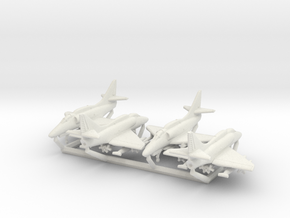 A-4F w/Gear x4 in White Natural Versatile Plastic: 6mm