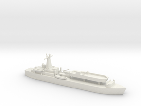 1/700 Scale British LST-3 with LCT 6 in White Natural Versatile Plastic