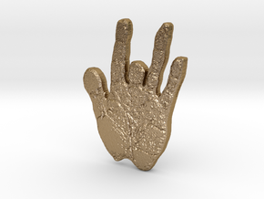 Jerryshandpin-01 in Polished Gold Steel