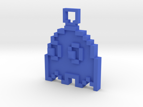 Pixel Art  - Pacman - Ghost in Blue Processed Versatile Plastic