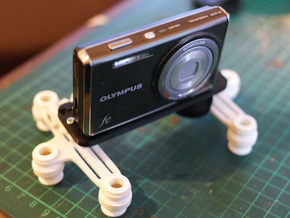 Hinged Camera Mount in White Natural Versatile Plastic