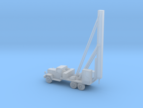 1/160 Scale Water Well Digger Truck in Smooth Fine Detail Plastic