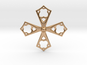 Amz. Cross in Polished Bronze