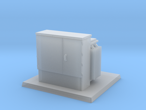 Padmount Transformer 01. 1:72 Scale in Smooth Fine Detail Plastic
