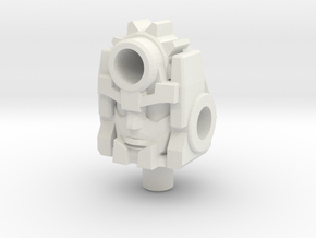 """BMOG """"Griefcutter"""" Humanoid Head (5mm) in White Natural Versatile Plastic: Small"""