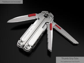 Thumb Tabs for the Leatherman Free P4 & P2 in Red Processed Versatile Plastic