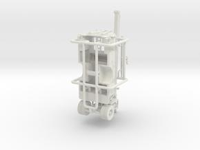 1/87 1965 IH/CENTRAL SQURT ENGINE BODY in White Natural Versatile Plastic