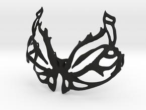 DIY Assembly Bra - butterfly design 1 in Black Natural Versatile Plastic