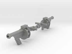 Space Splurge Guns for Micronauts in Gray PA12: Medium