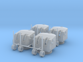 """1/240 5""""/38 cal. Mk.12 Twin Mounts Set x4 in Smooth Fine Detail Plastic"""