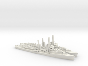 US Mahan-class Destroyer (x2) in White Natural Versatile Plastic