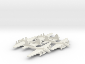 US B-17 Heavy Bomber Aircraft (x4) in White Natural Versatile Plastic