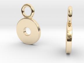 Self Disc Drop Earrings in 14K Yellow Gold
