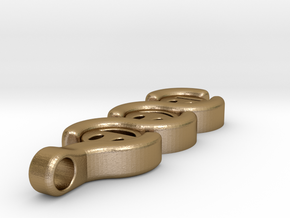 The three Stages to a Smile ~ mk-1 in Polished Gold Steel
