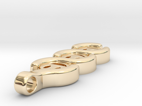 The three Stages to a Smile ~ mk-1 in 14K Yellow Gold