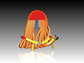 USN Fire hose x 12 1/24 in Smooth Fine Detail Plastic