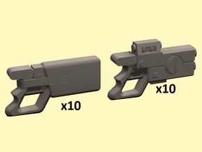 28mm Space Ruminant pistols in Smoothest Fine Detail Plastic