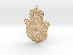 Hamsa in 14k Gold Plated Brass