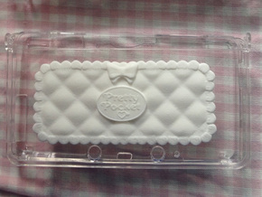 Pretty Pocket Decoration for 3DS in White Strong & Flexible